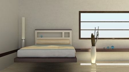 abstract bedroom interior