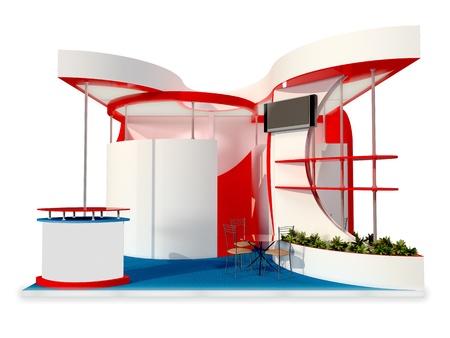 an exposition: astratto stand espositivo