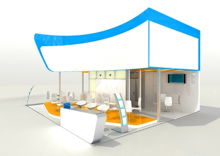 abstract exhibition stand concept photo