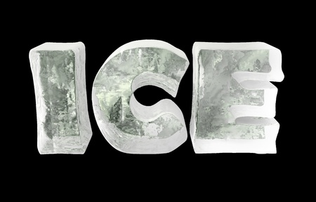 ice letters Stock Photo - 10631463