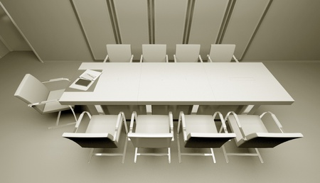 meeting table 3d photo
