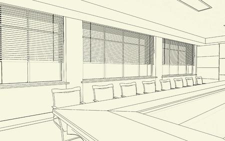 business interior draft Stock Photo