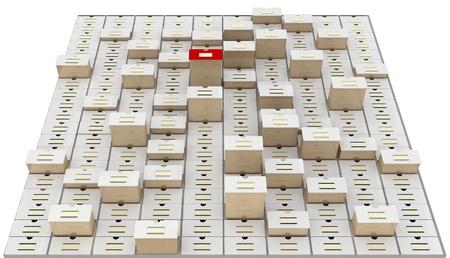 vintage database Stock Photo - 10649512