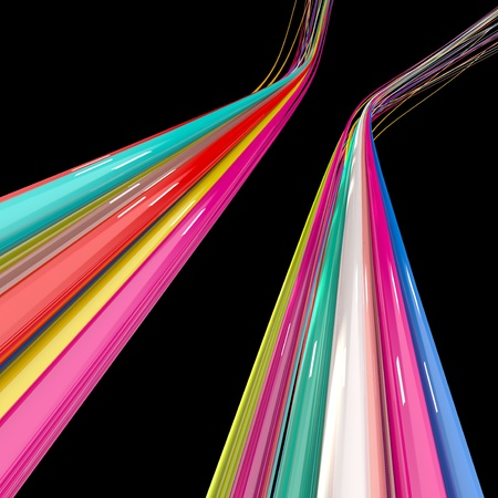 color wires isolated on black Stock Photo - 10699671