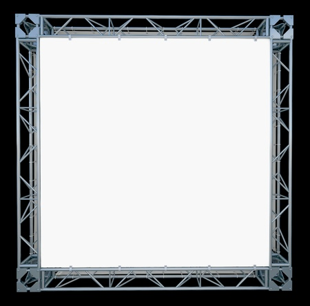 square banner on truss
