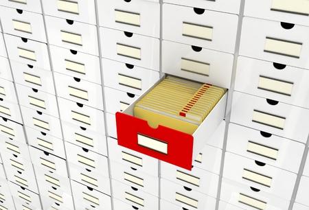 vintage database, folders Stock Photo - 10699675