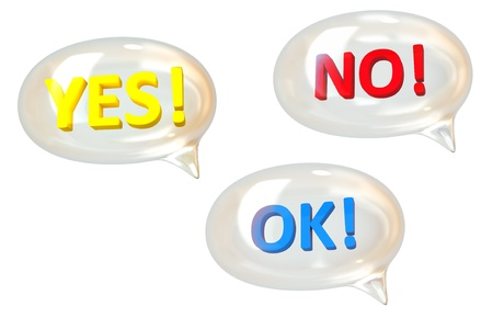 speech bubbles Stock Photo - 12620216