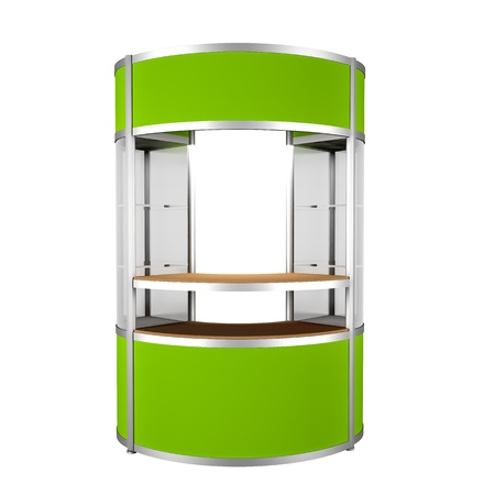 kiosk: green counter