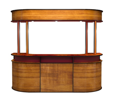 kiosk: wooden bar counter