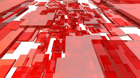 red glass blocks Stock Photo - 12620231
