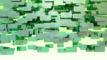 green 3d blocks Stock Photo - 12620233