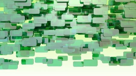 green 3d blocks Stock Photo - 12620233