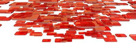 red glass blocks Stock Photo - 12620226