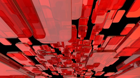red glass blocks rounded corners Stock Photo - 12620279
