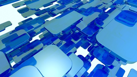 blue glass rounded blocks Stock Photo - 12620282