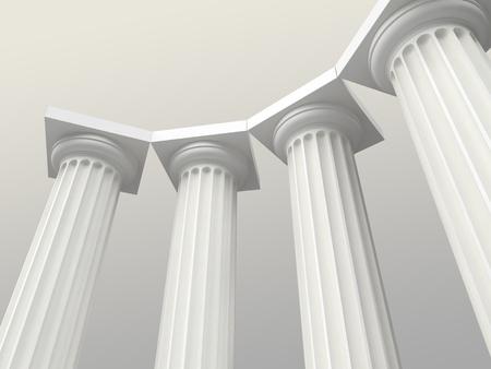 templo griego: columnas blancas