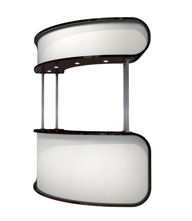 white counter