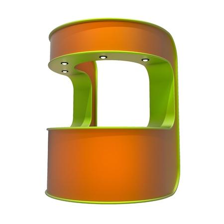 beursvloer: oranje kiosk