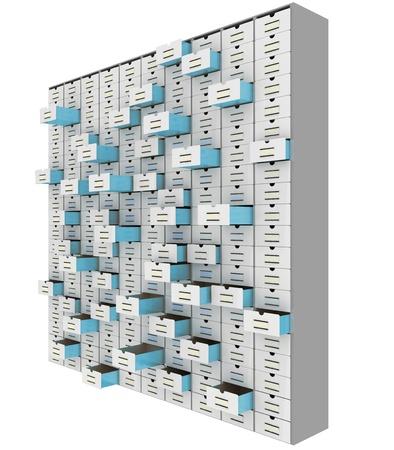 information medium: big data storage conceptual 3d image