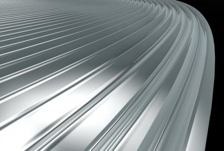 plating: metal texture close-up view Stock Photo