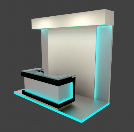 reception counter: abstract exhibition booth