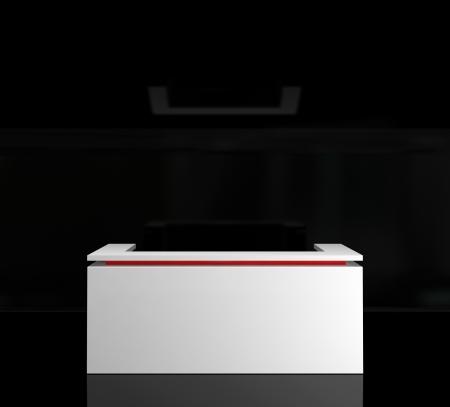 white reception counter Stockfoto