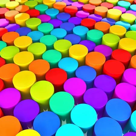 color plastic buttons photo