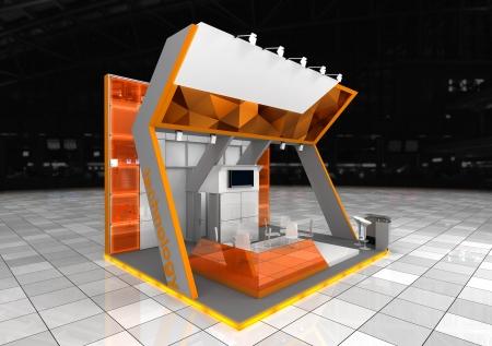 exhibition stand design 写真素材