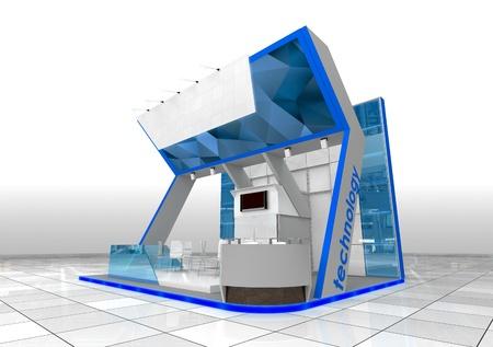 exhibition stand design Standard-Bild