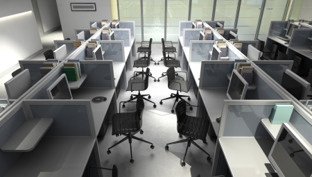 Modern office open space interior