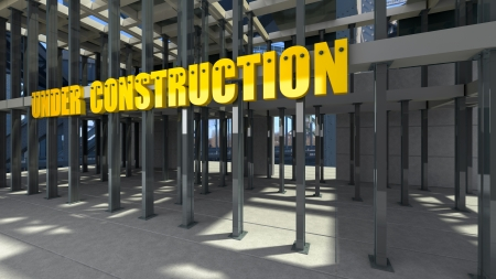 modern construction work area conceptual image photo
