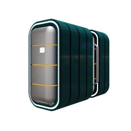 data storage conteptual design, high resolution 3d render photo