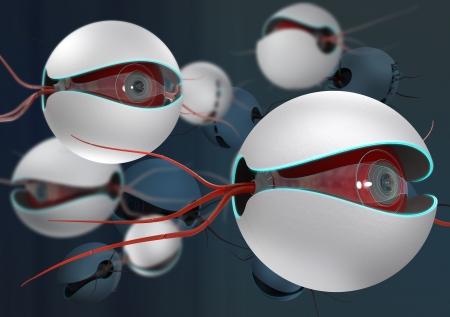 nano bots conceptual design, close-up view