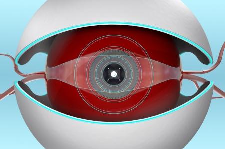 nano bot conceptual design, close-up view Stock Photo