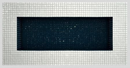 reservoir: empty reservoir made of different colors tiles