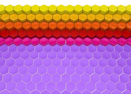 decorative background made of colorful hexagons photo