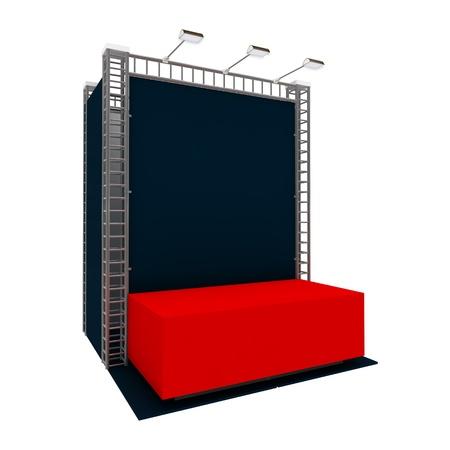 Empty exhibition module isolated on white Stock Photo - 18994422