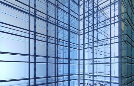 abstract architectural background with construction frames and light