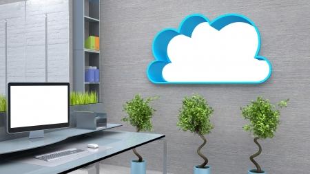 modern workspace conceptual illustration illustration