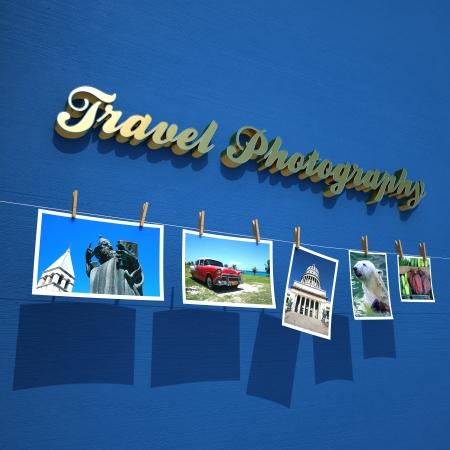 Conceptual illustration of one travel photo report illustration