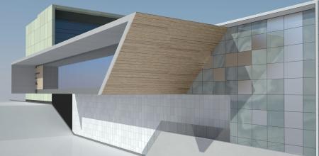 modern public building exterior photo