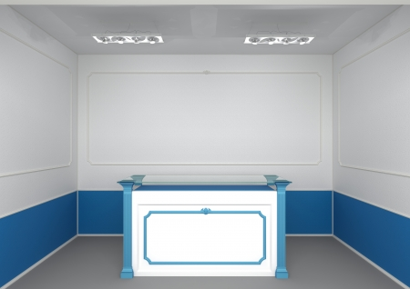 reception counter in abstract classic style interior photo