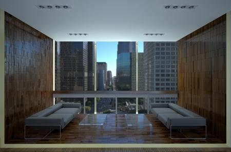 laminated: modern office recreation area with laminate finishing Stock Photo