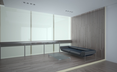 laminate: office recreation room interior with laminate finishing