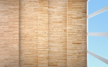abstract interior with wooden finishing Stock Photo - 19098085