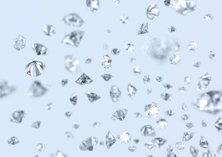 fallin: many precious gems fallin down Stock Photo