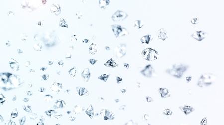 many precious gems fallin down 写真素材