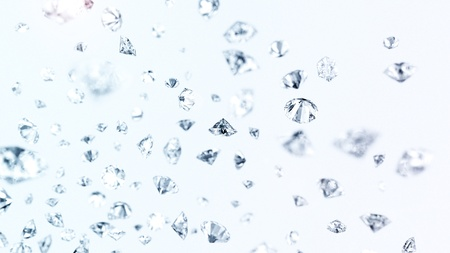 diamond cut: many precious gems fallin down Stock Photo