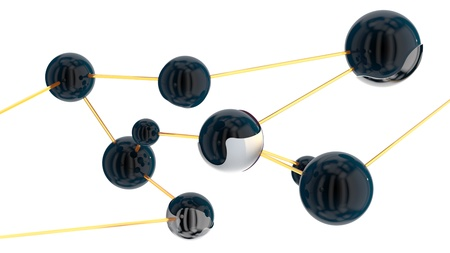 abstract spherical objects connected in one network Stock Photo - 20884468