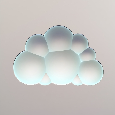 singn: abstract cloud singn made of blue bubbles Stock Photo